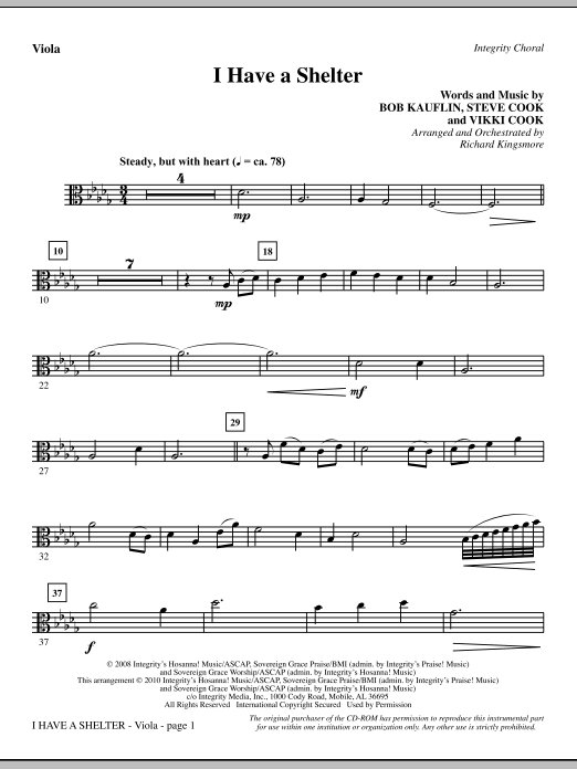 I Have A Shelter - Viola sheet music