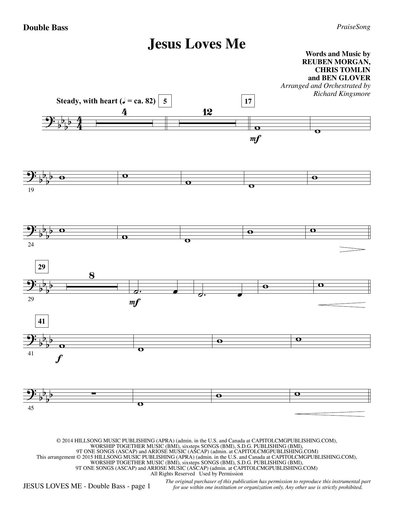 Jesus Loves Me - Double Bass sheet music