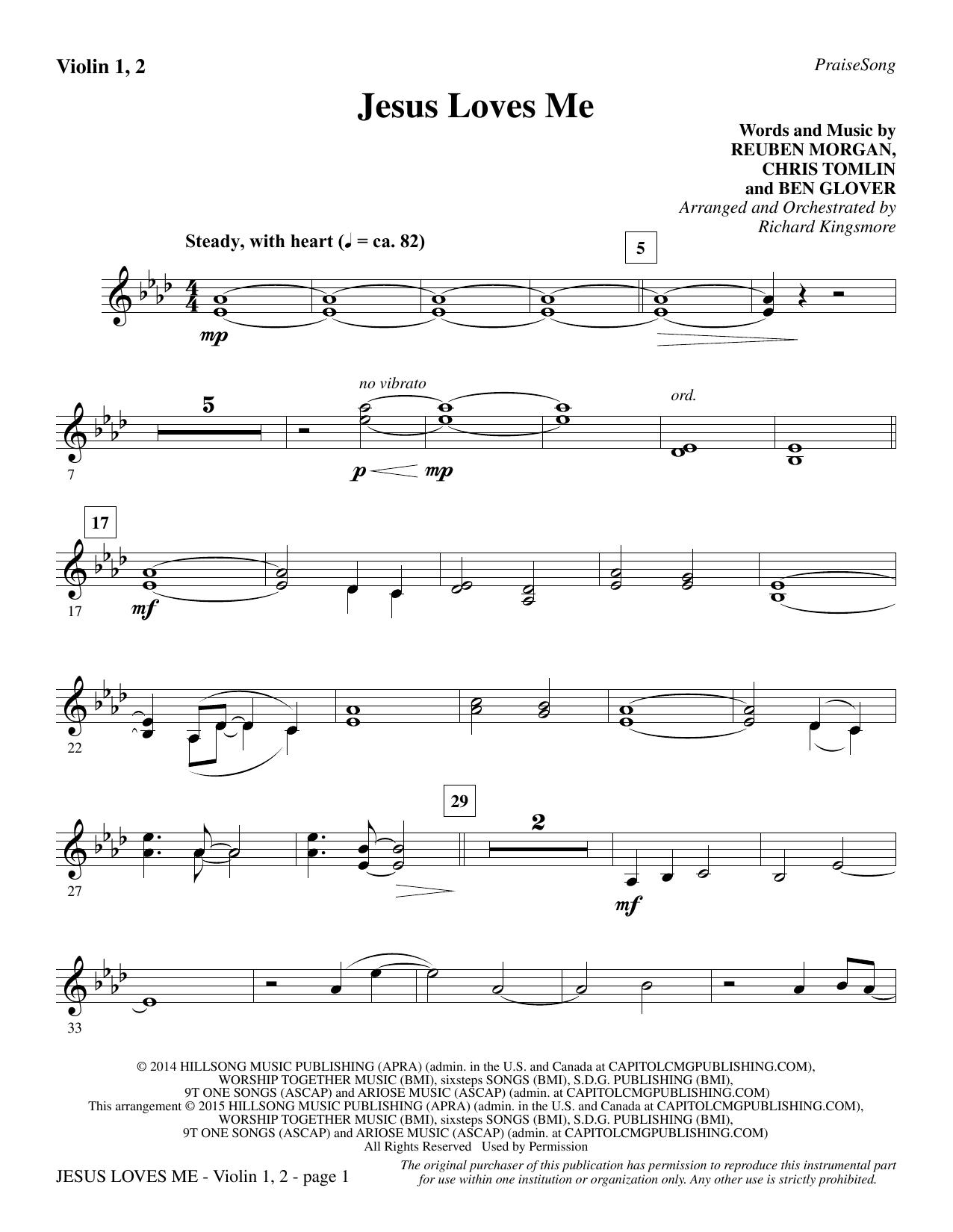 Jesus Loves Me - Violin 1, 2 sheet music