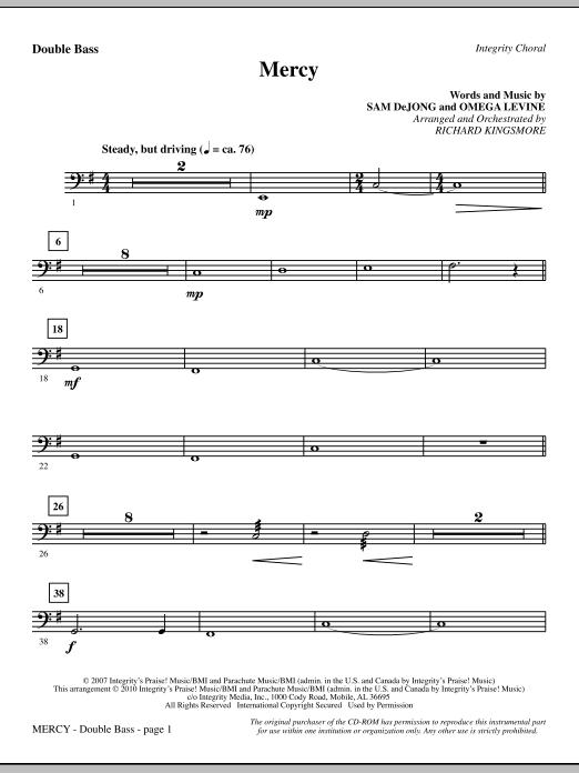 Mercy - Double Bass sheet music