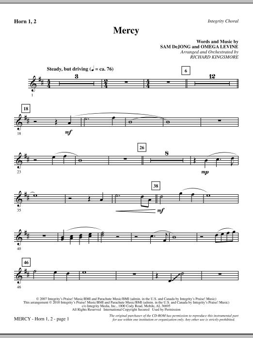 Mercy - Horn 1 & 2 sheet music