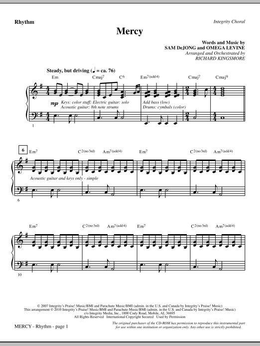 Mercy - Rhythm sheet music