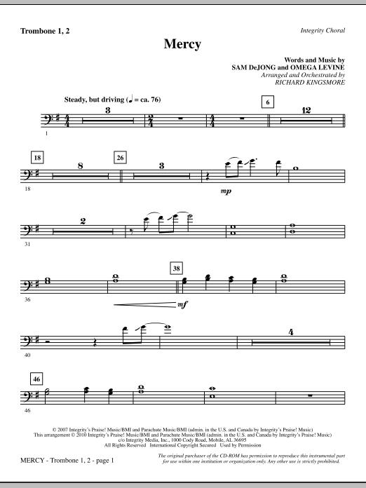 Mercy - Trombone 1 & 2 sheet music
