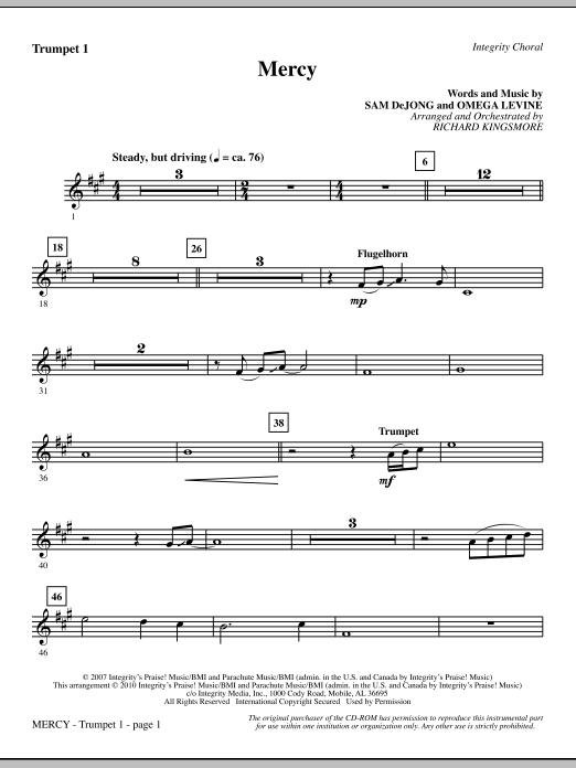Mercy - Trumpet 1 sheet music