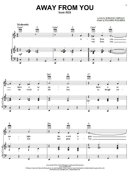 Away From You sheet music