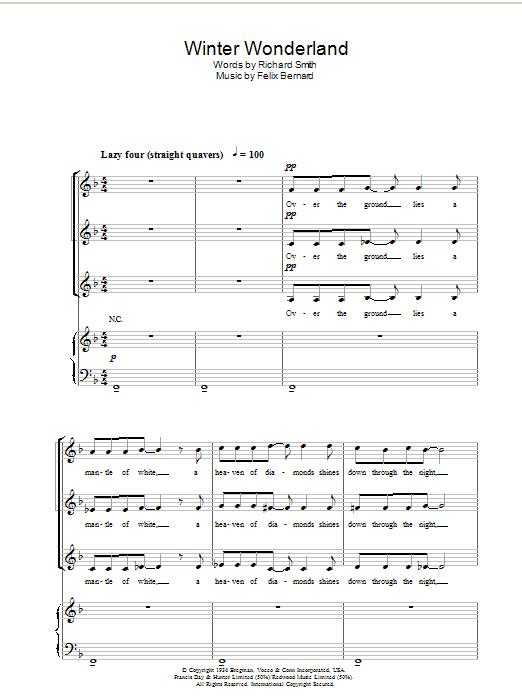 Winter Wonderland sheet music