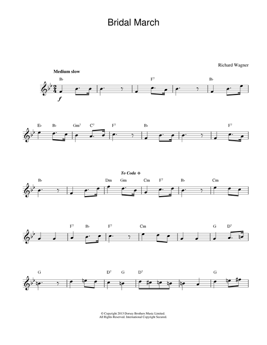 Bridal March sheet music