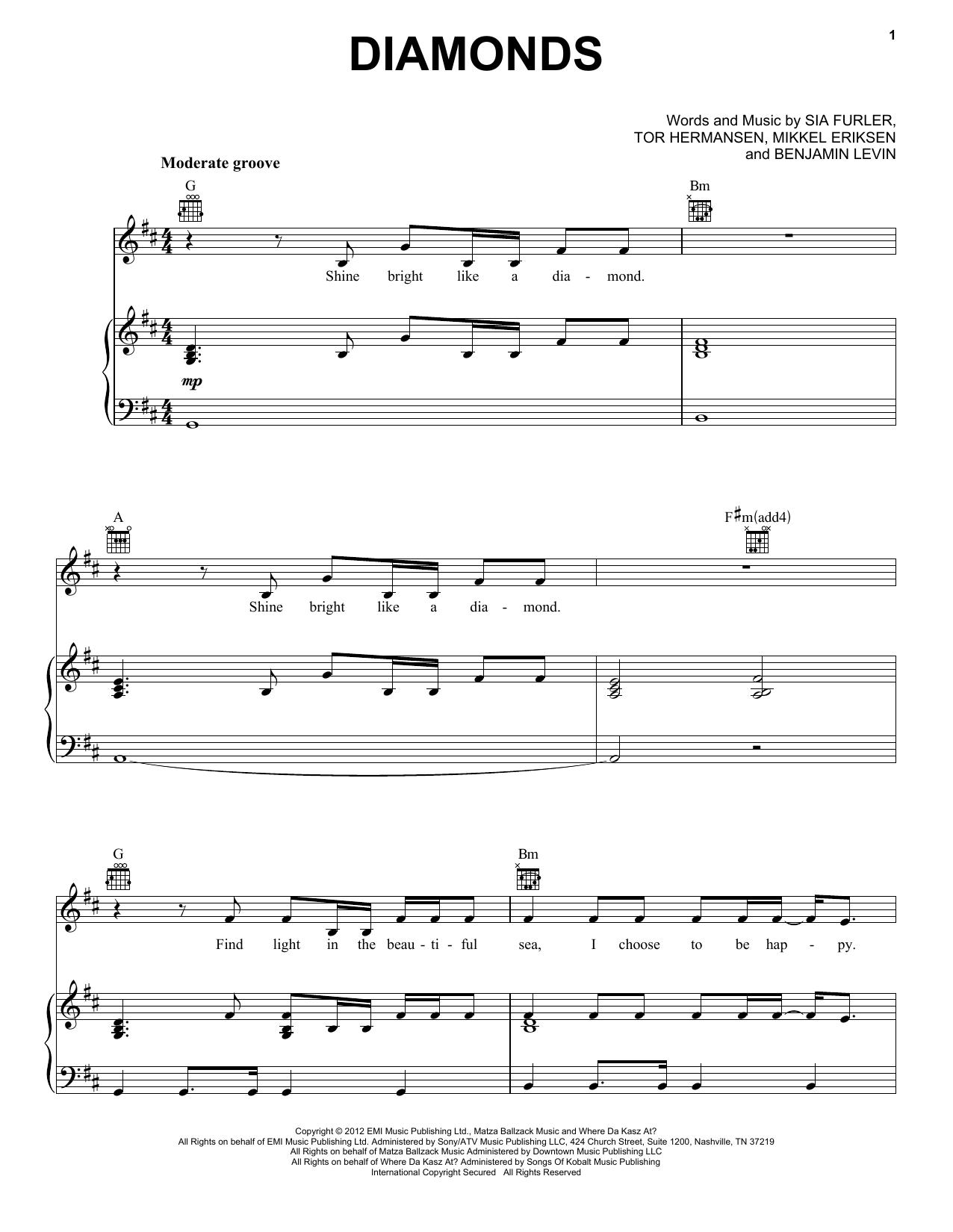 Diamonds sheet music