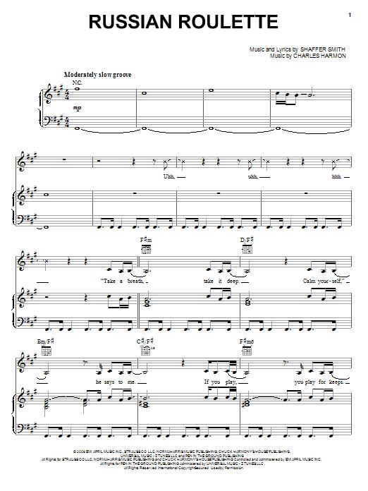 Russian Roulette sheet music