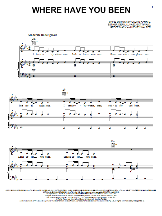 Rihanna Where Have You Been Sheet Music Download Pdf Score 89114