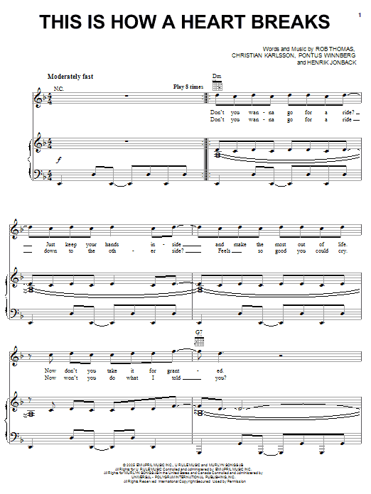 This Is How A Heart Breaks sheet music