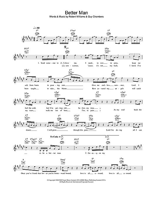 Better Man sheet music