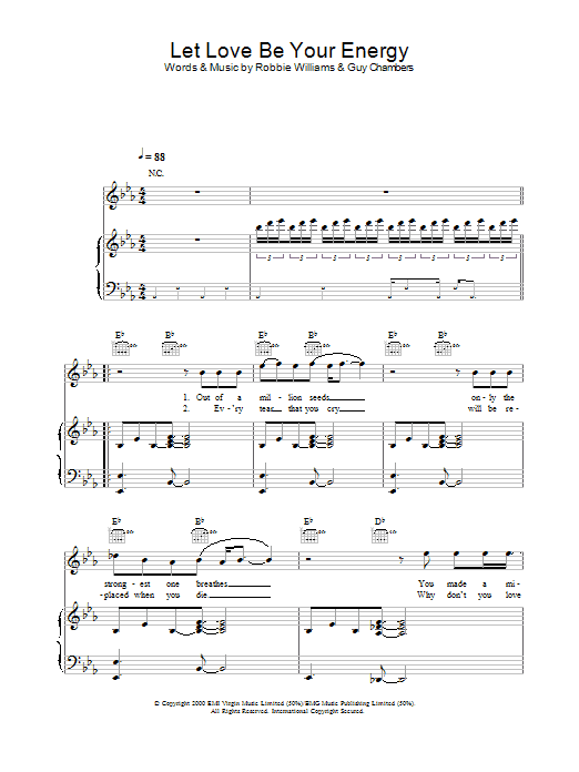 Let Love Be Your Energy sheet music