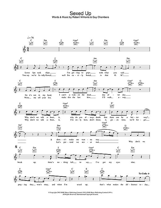 Sexed Up sheet music