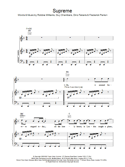 Supreme sheet music