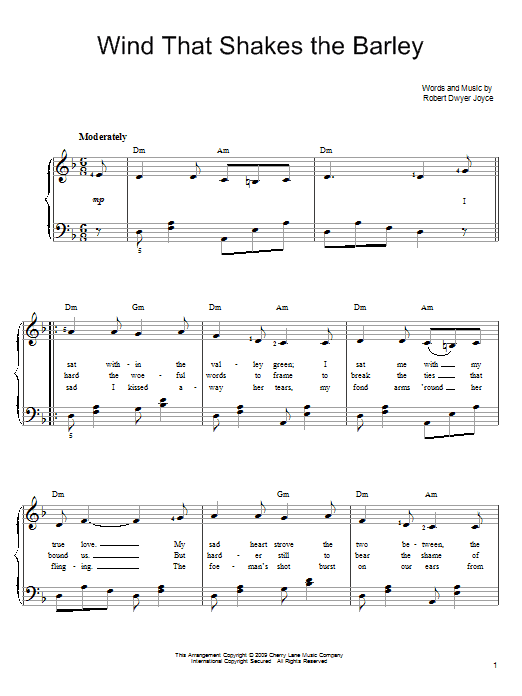 Wind That Shakes The Barley sheet music