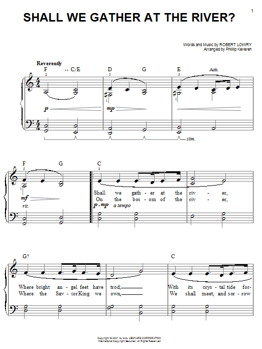 Shall We Gather At The River? sheet music