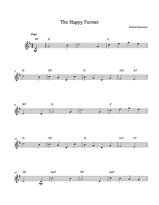 The Happy Farmer sheet music