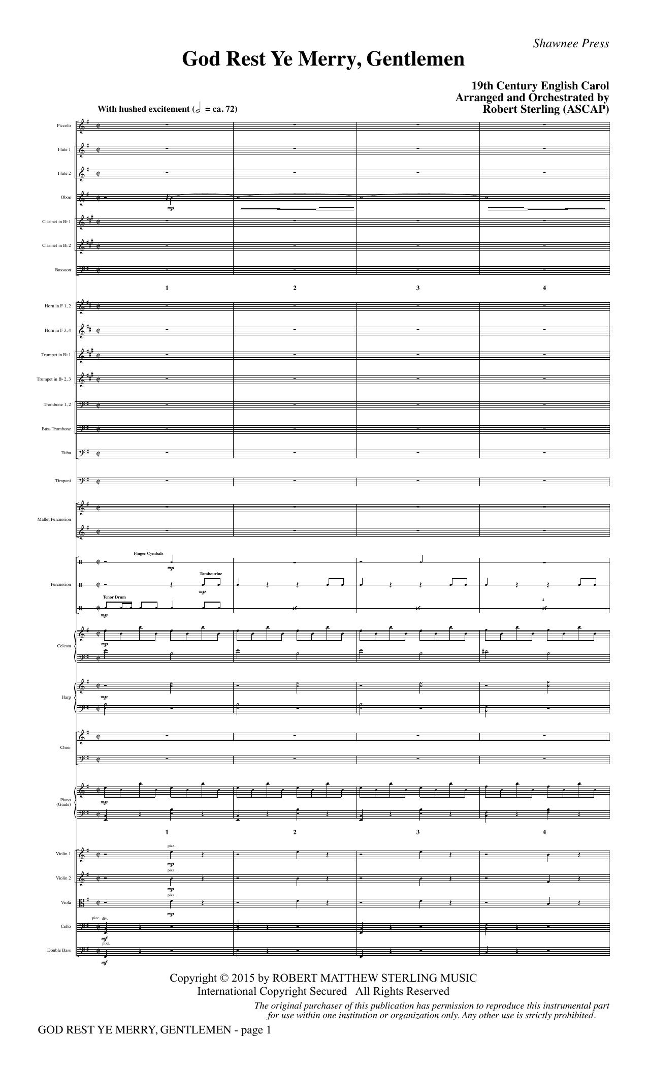 God Rest Ye Merry, Gentlemen - Full Score sheet music
