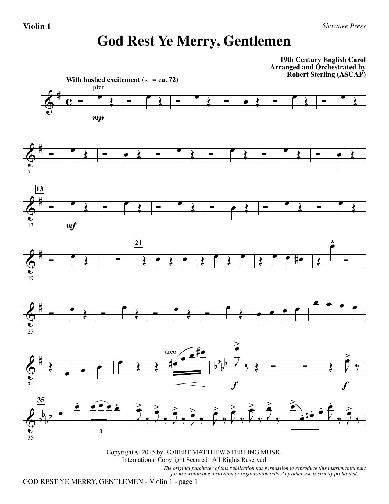 God Rest Ye Merry, Gentlemen - Violin 1 sheet music