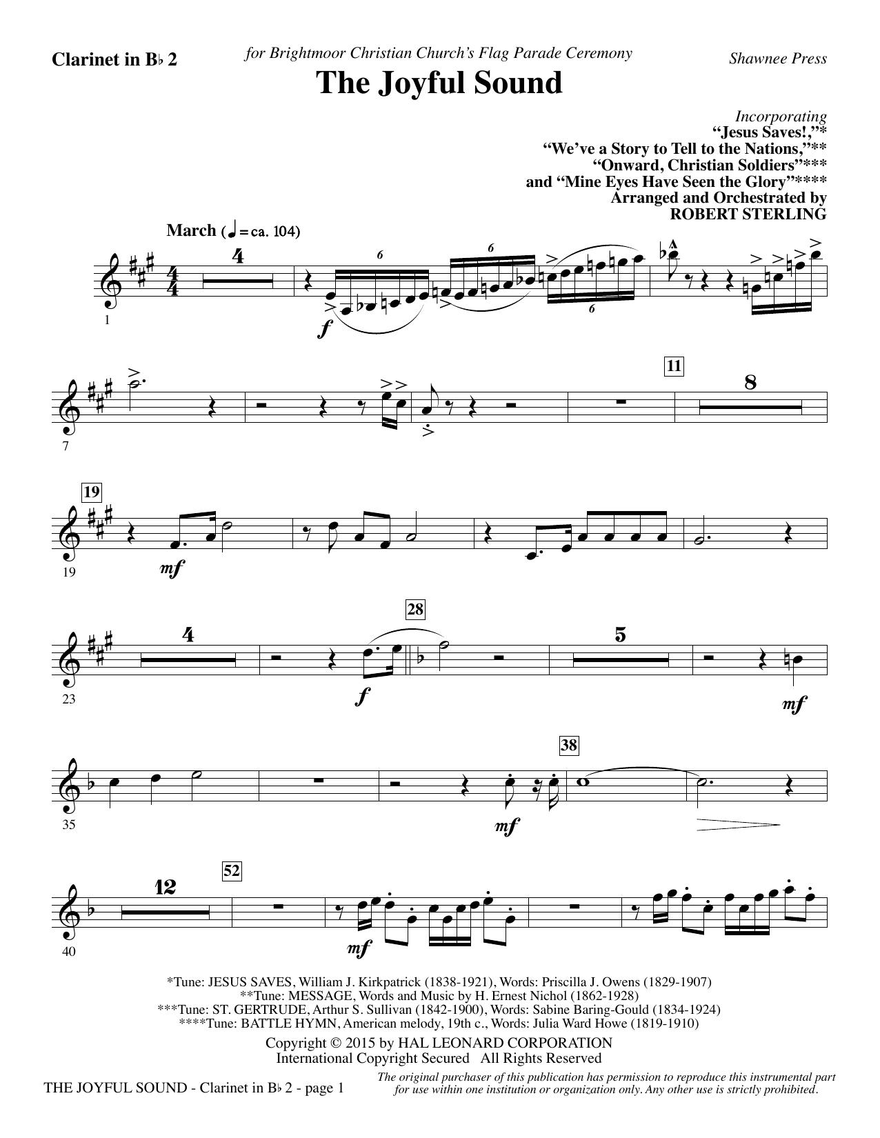 The Joyful Sound - Bb Clarinet 2 sheet music
