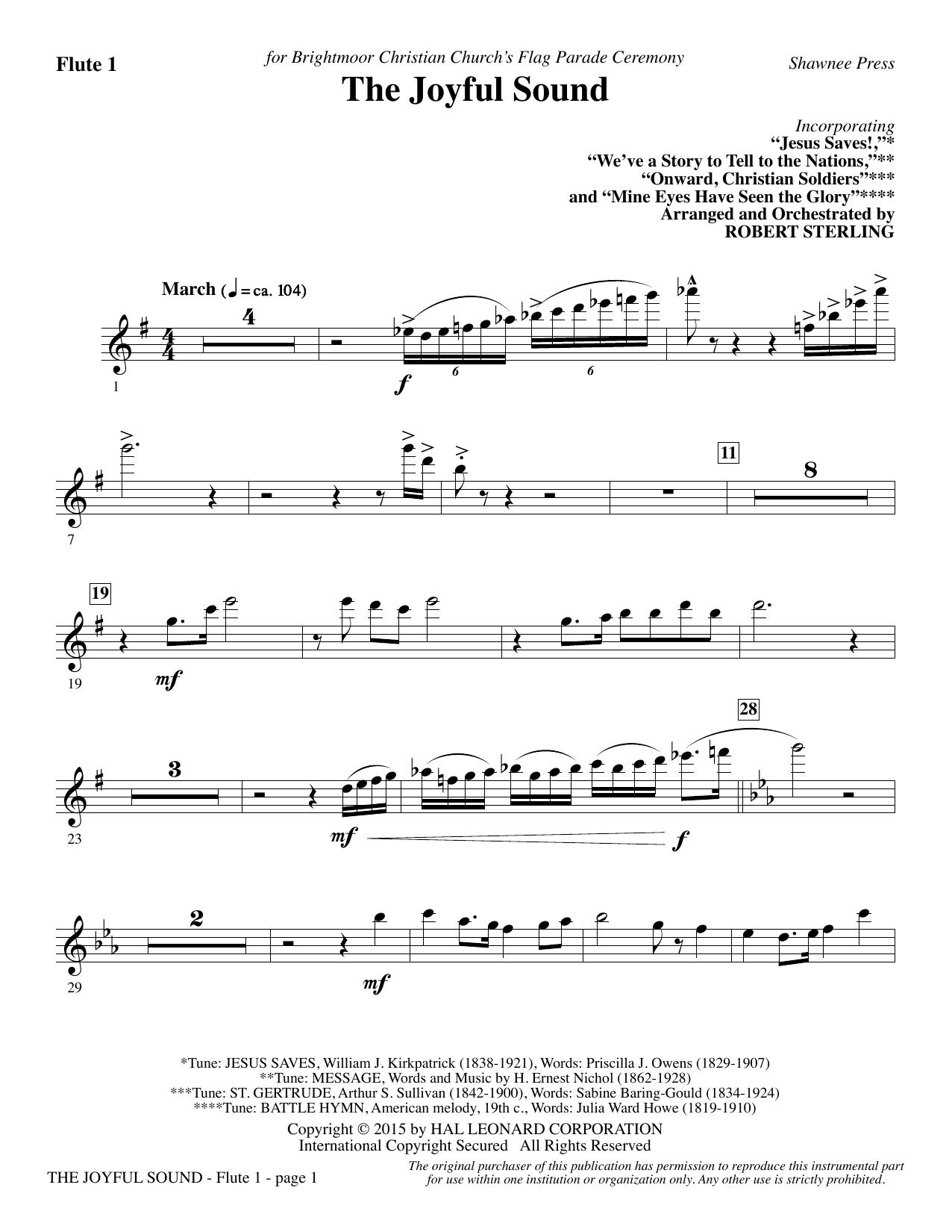 The Joyful Sound - Flute 1 sheet music