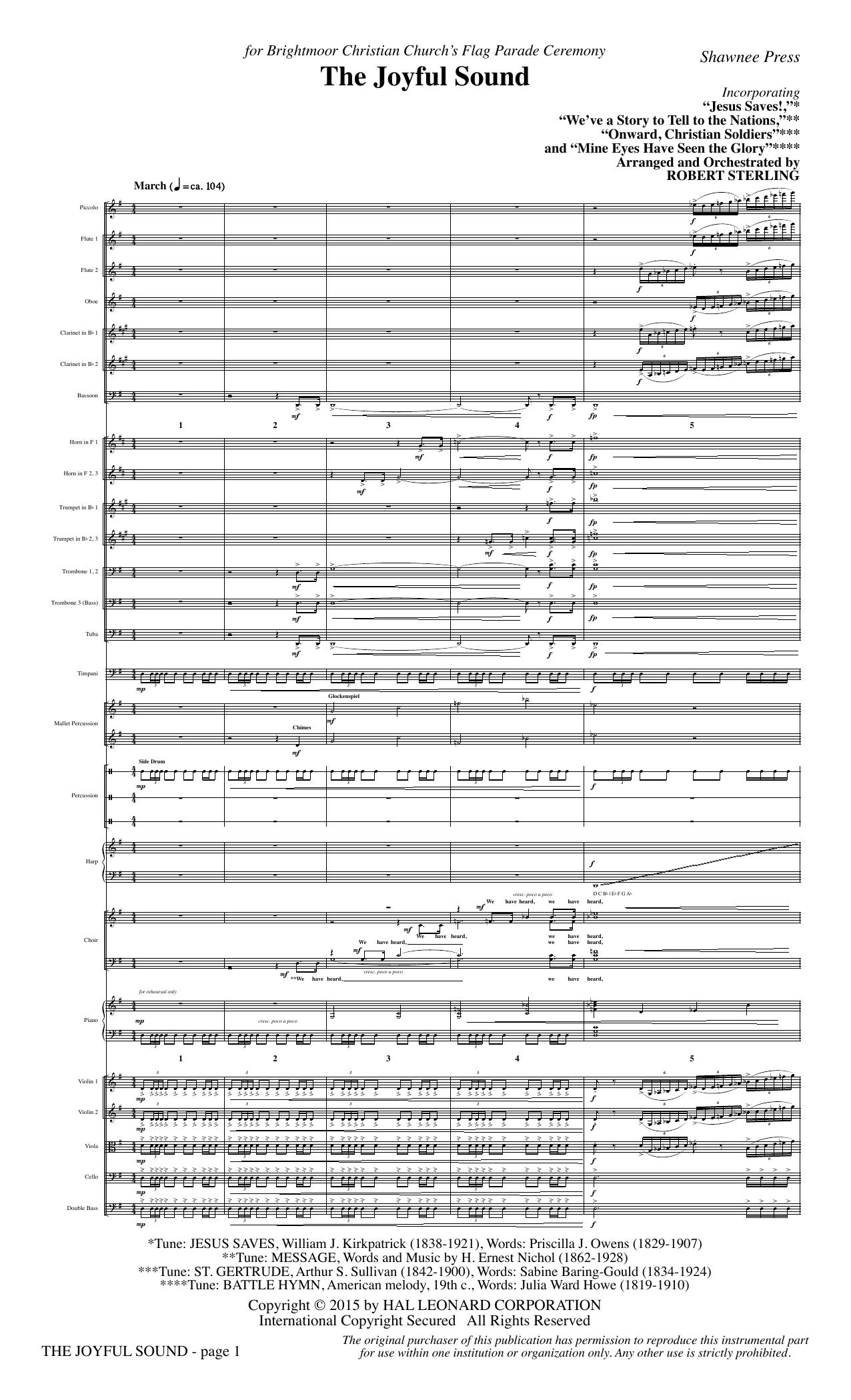 The Joyful Sound - Full Score sheet music
