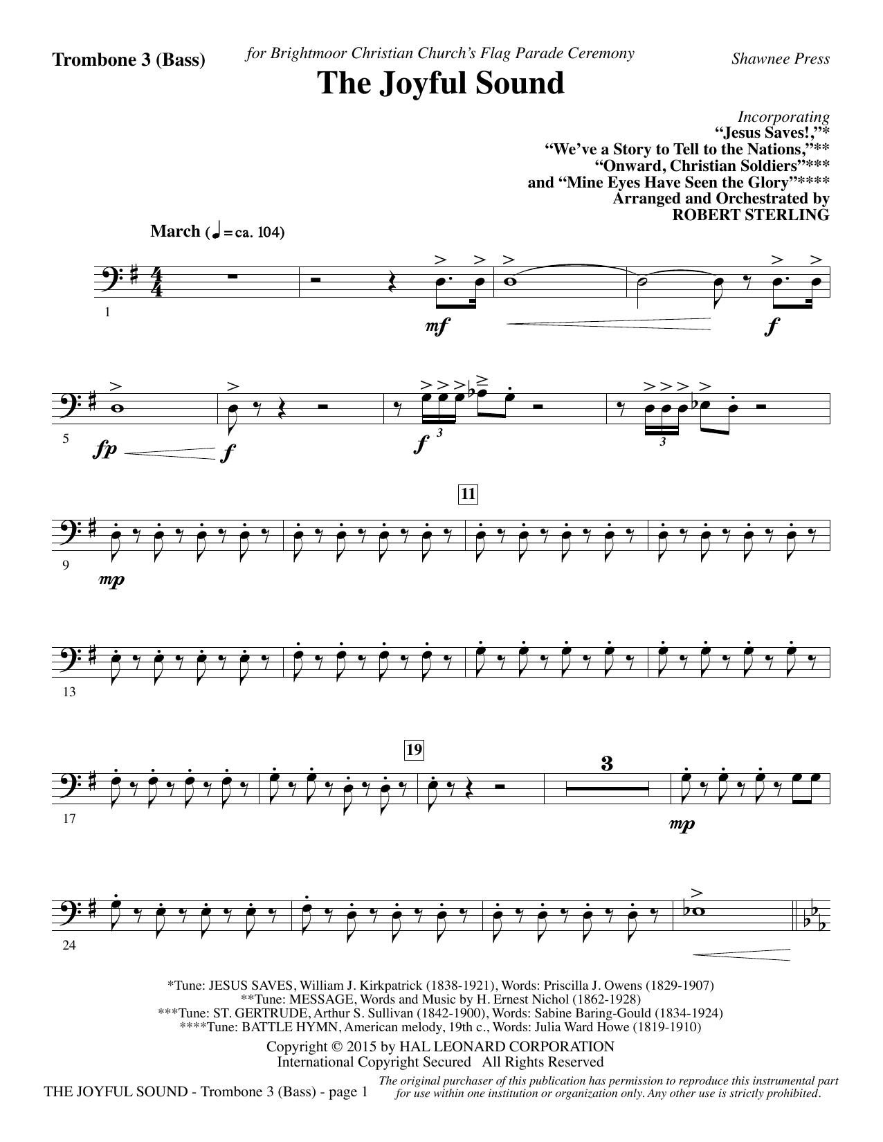 The Joyful Sound - Trombone 3 (Bass) sheet music