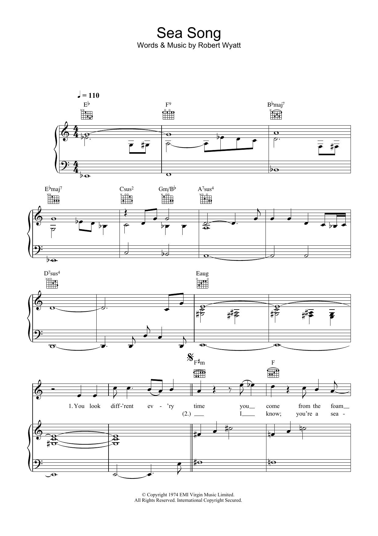 Sea Song sheet music