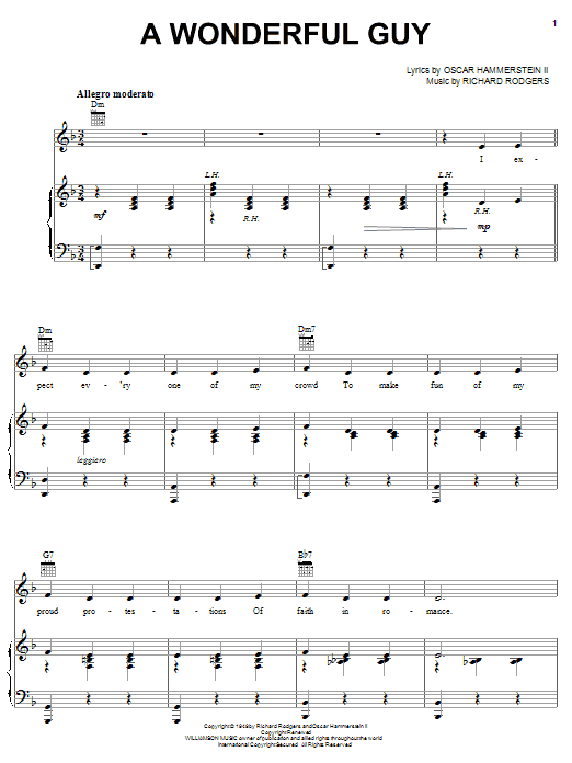 A Wonderful Guy sheet music