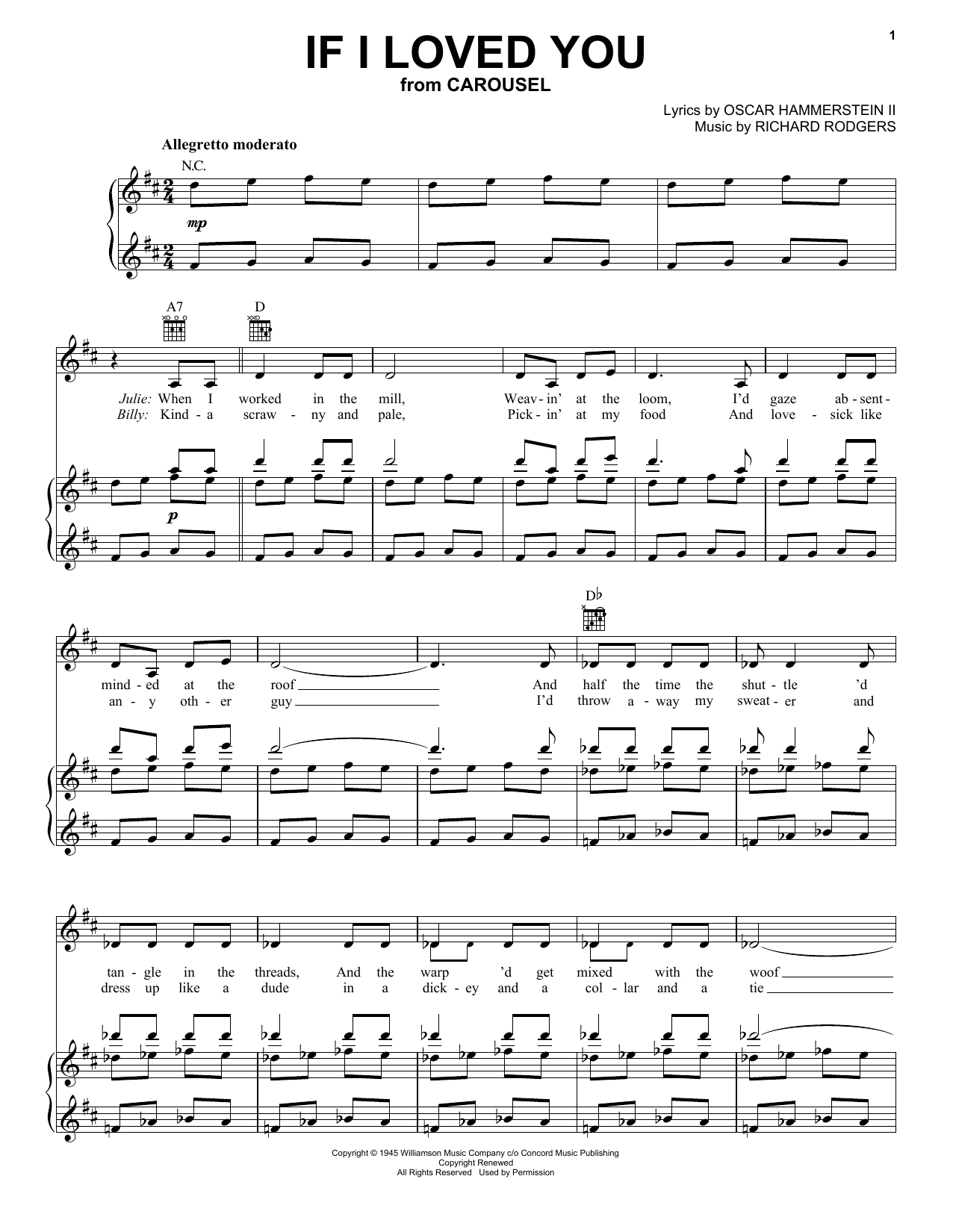 If I Loved You sheet music