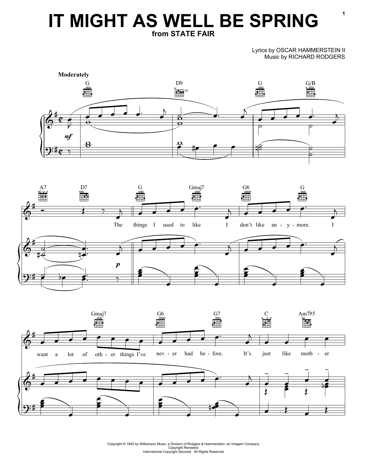It Might As Well Be Spring sheet music