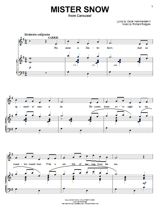 Mister Snow sheet music