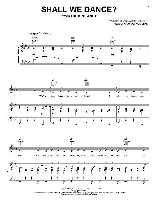 Shall We Dance? sheet music