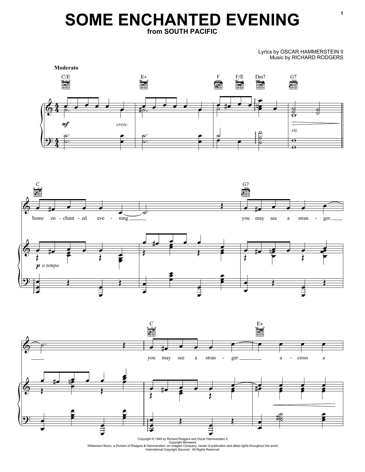 Some Enchanted Evening sheet music