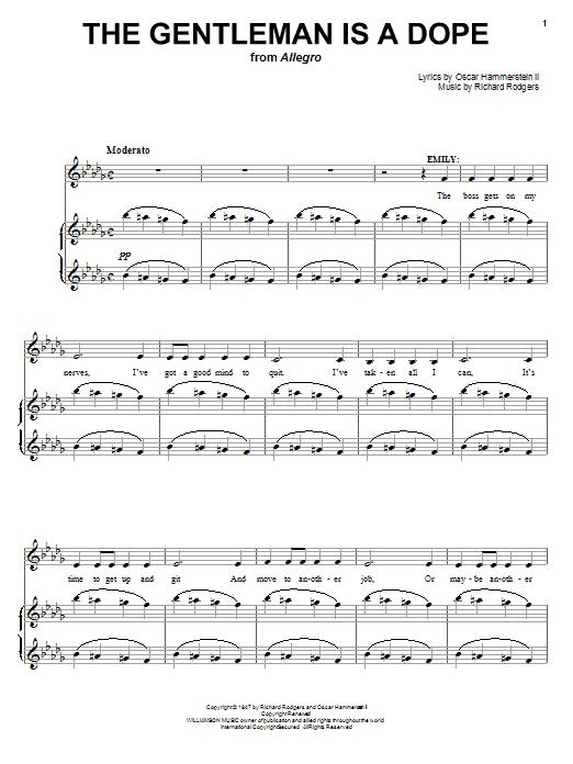 The Gentleman Is A Dope sheet music
