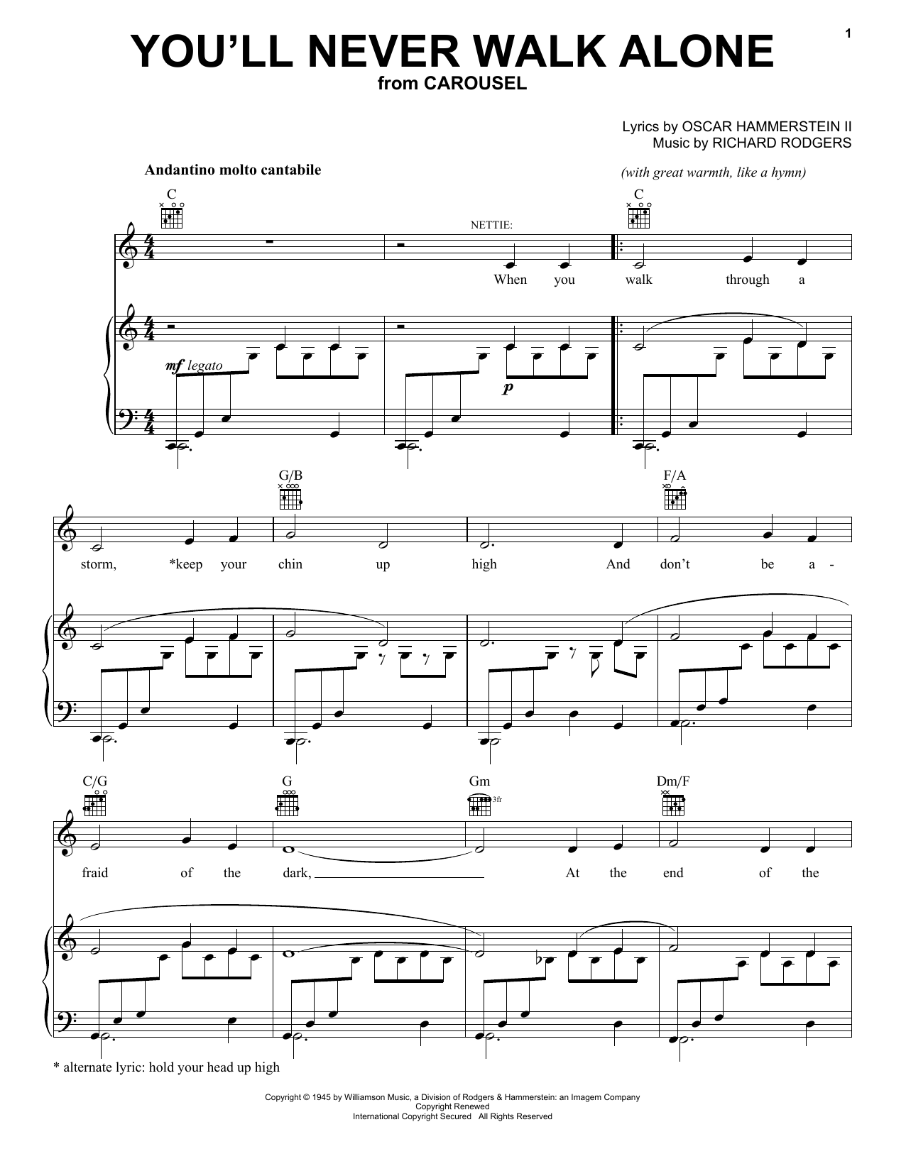 You'll Never Walk Alone sheet music