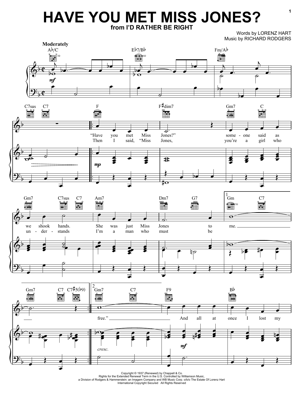 Have You Met Miss Jones? sheet music