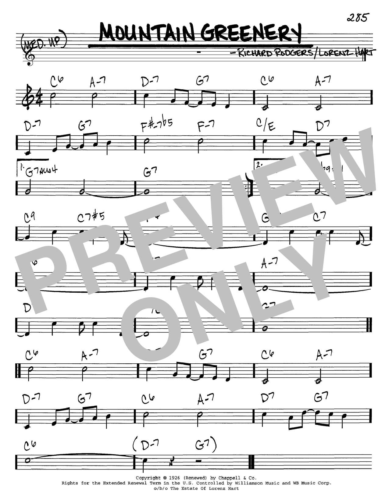 Mountain Greenery sheet music
