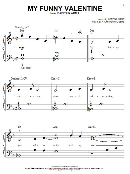 My Funny Valentine sheet music