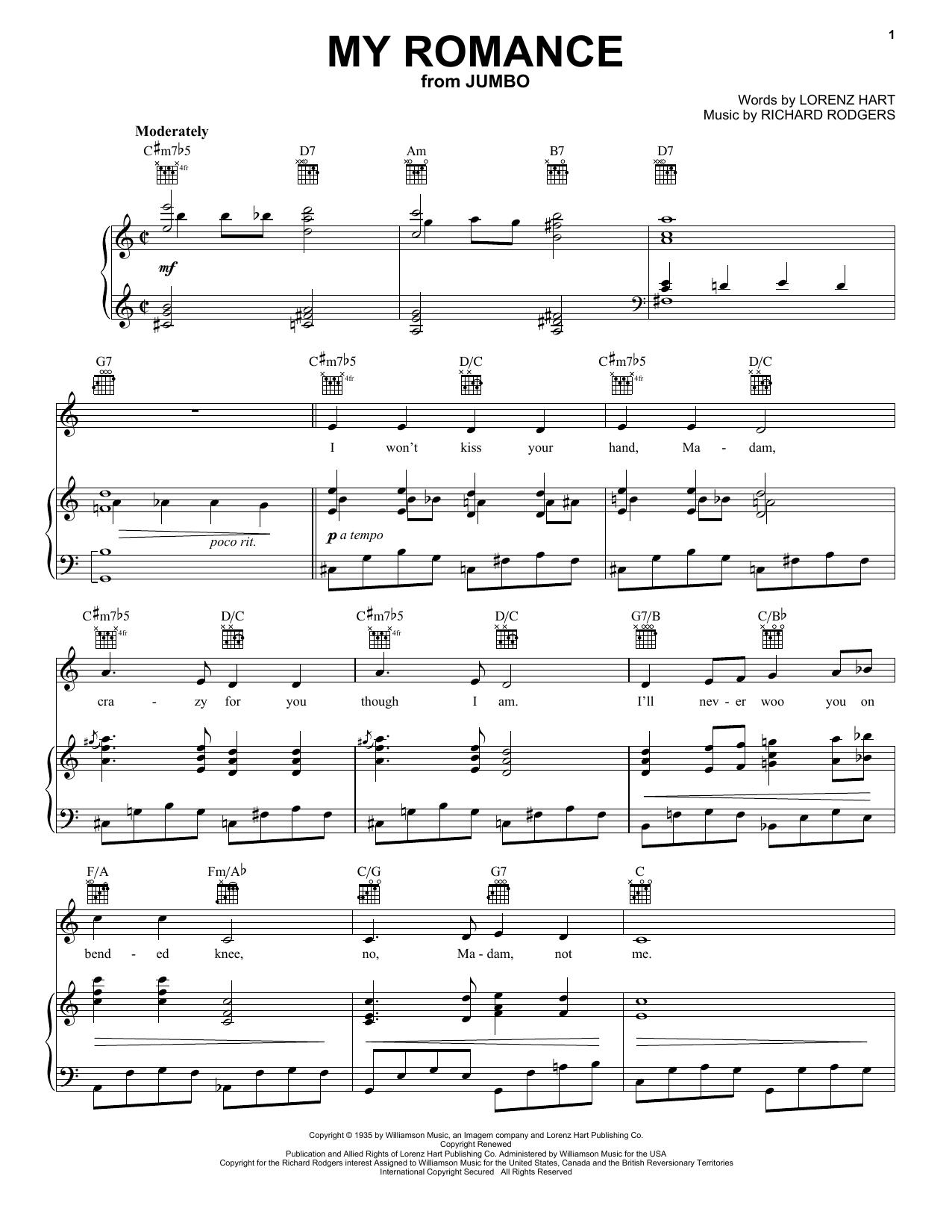 My Romance sheet music