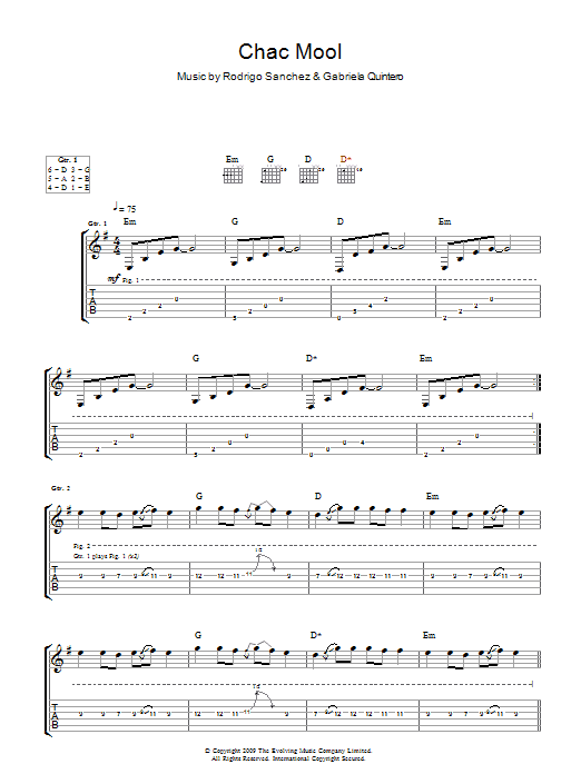 Chac Mool sheet music