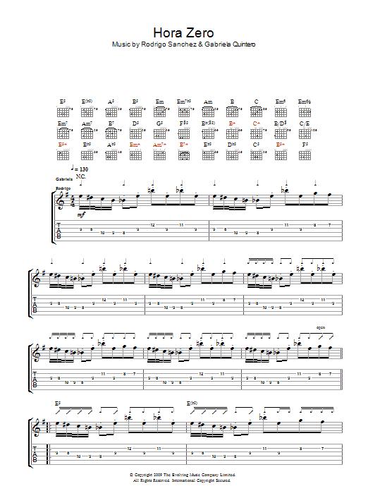 Hora Zero sheet music