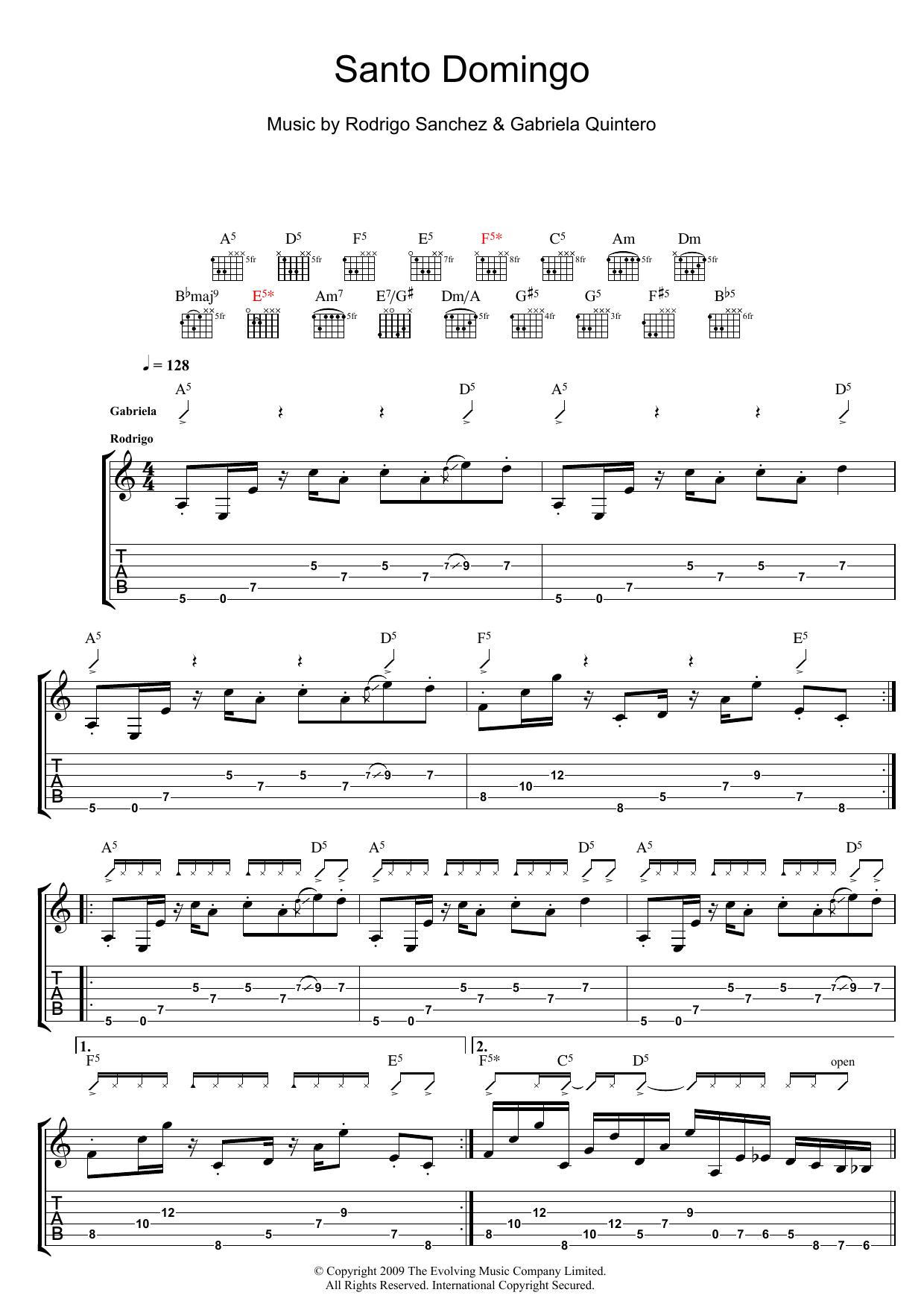 Santo Domingo sheet music
