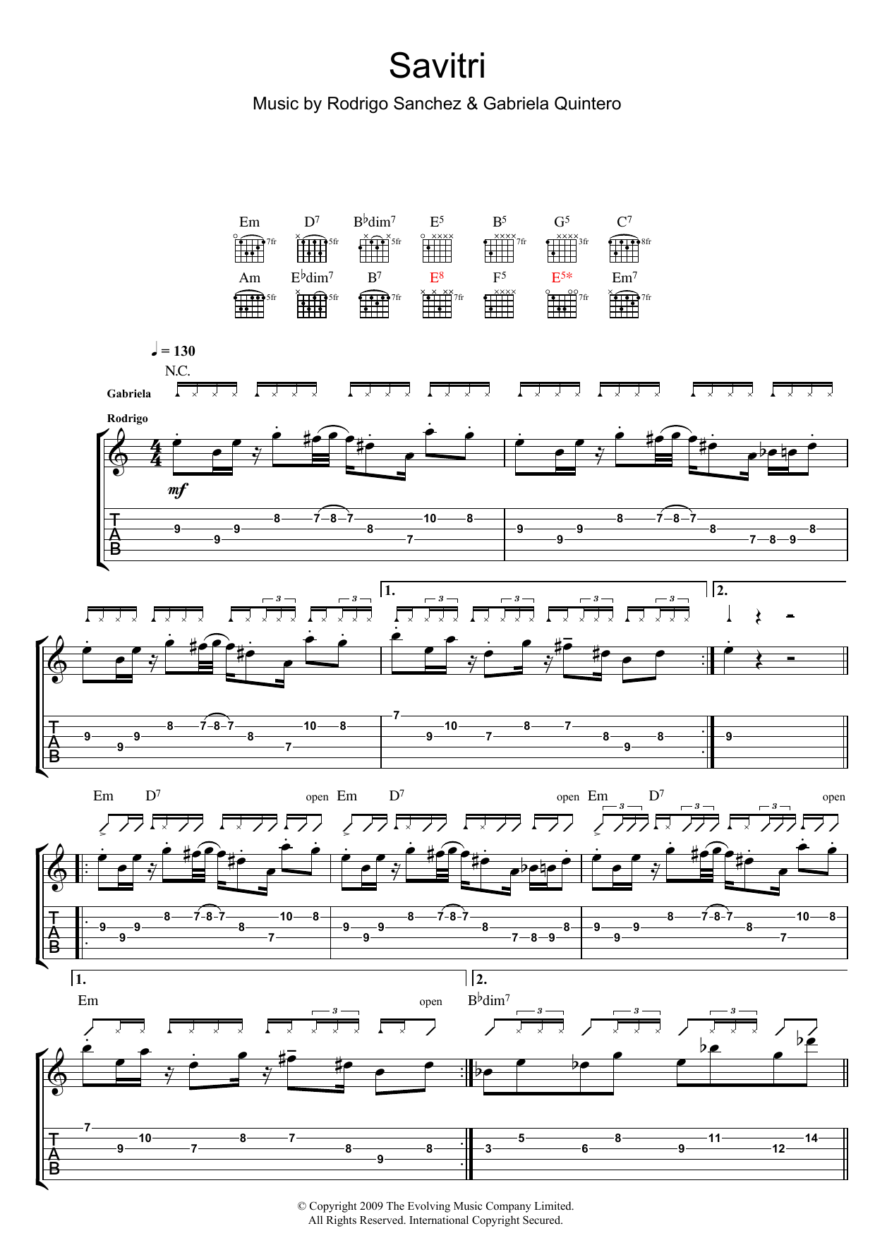 Savitri sheet music