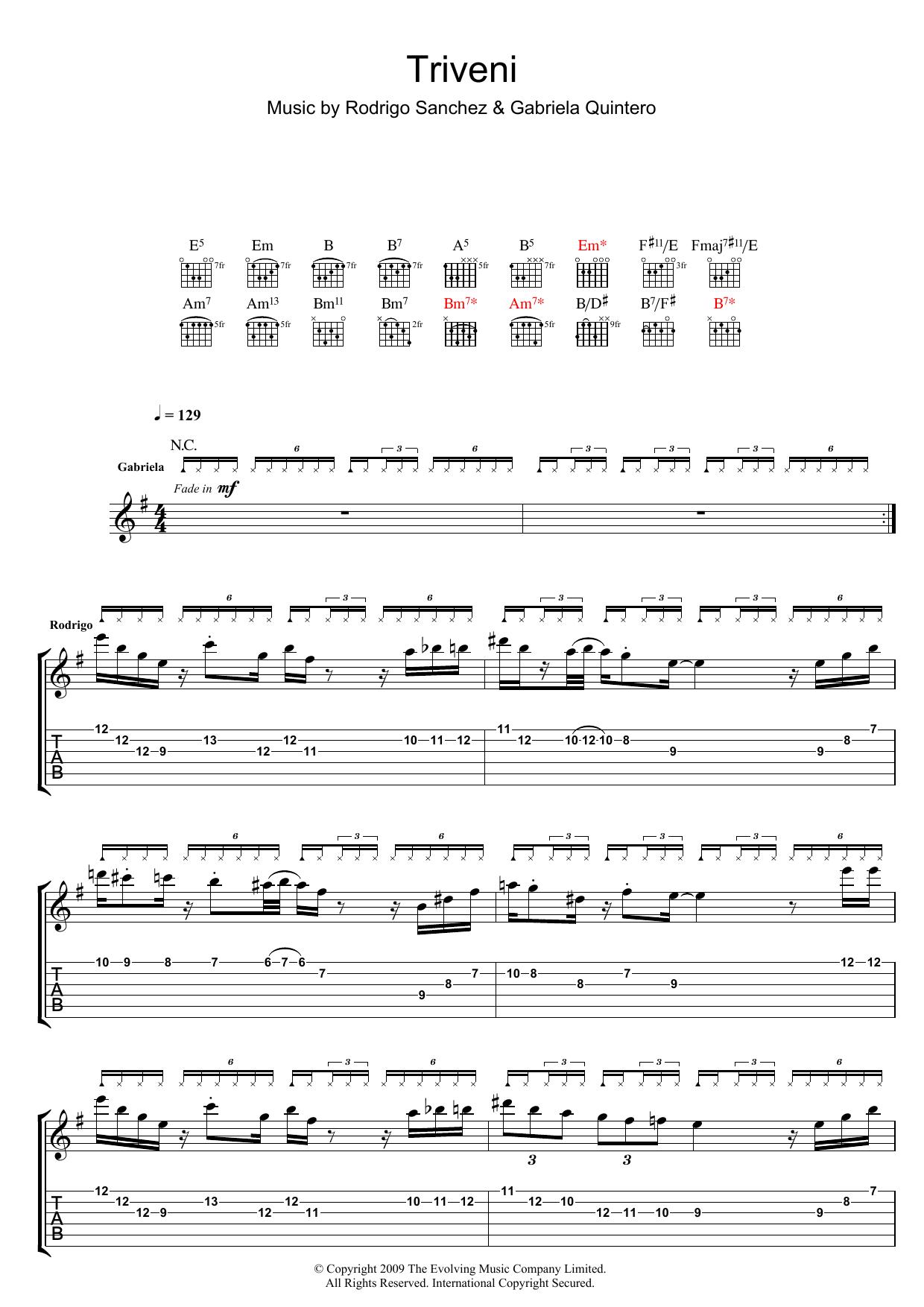 Triveni sheet music