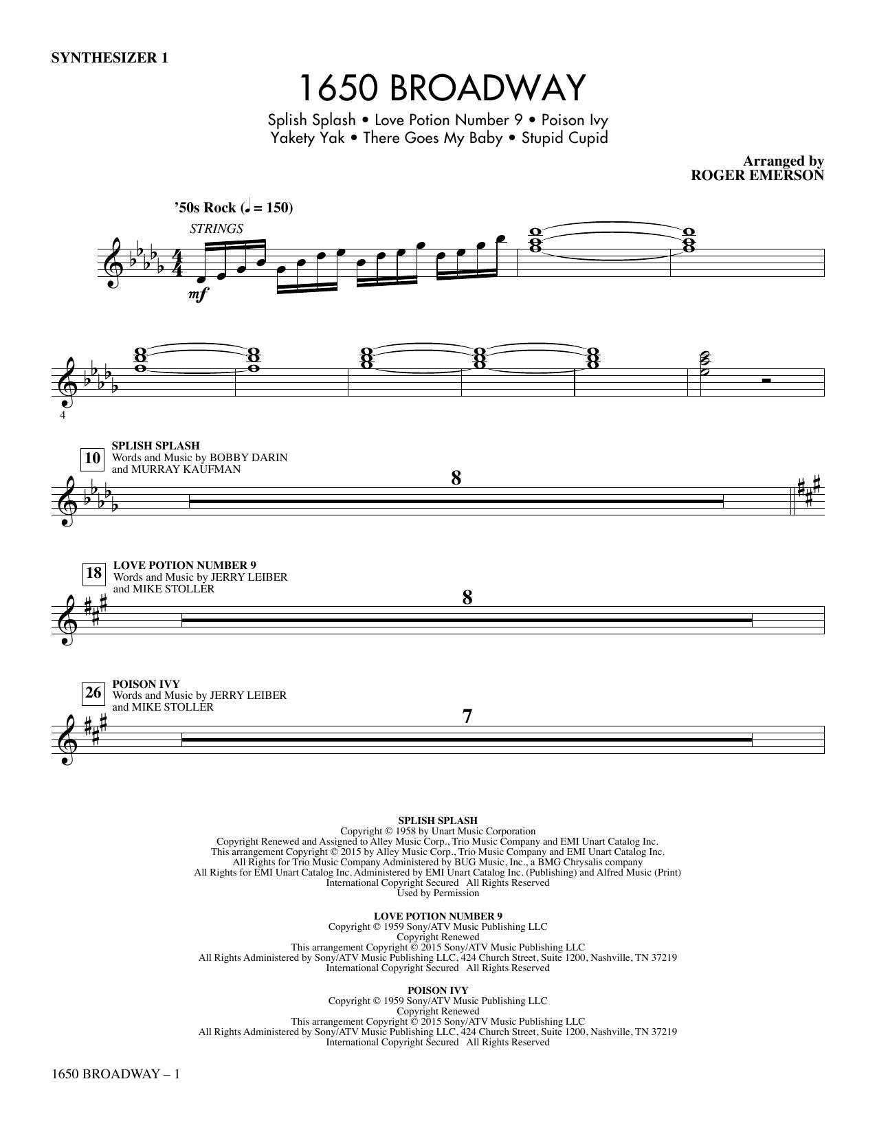 1650 Broadway (Medley) - Synthesizer I sheet music