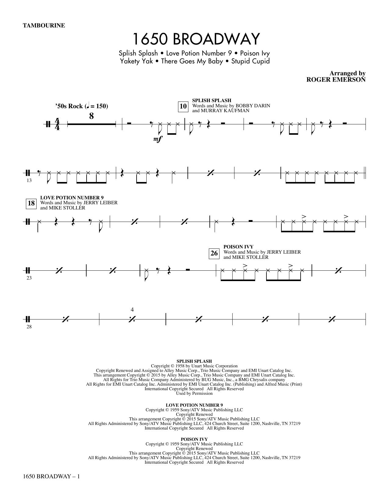1650 Broadway (Medley) - Tambourine sheet music