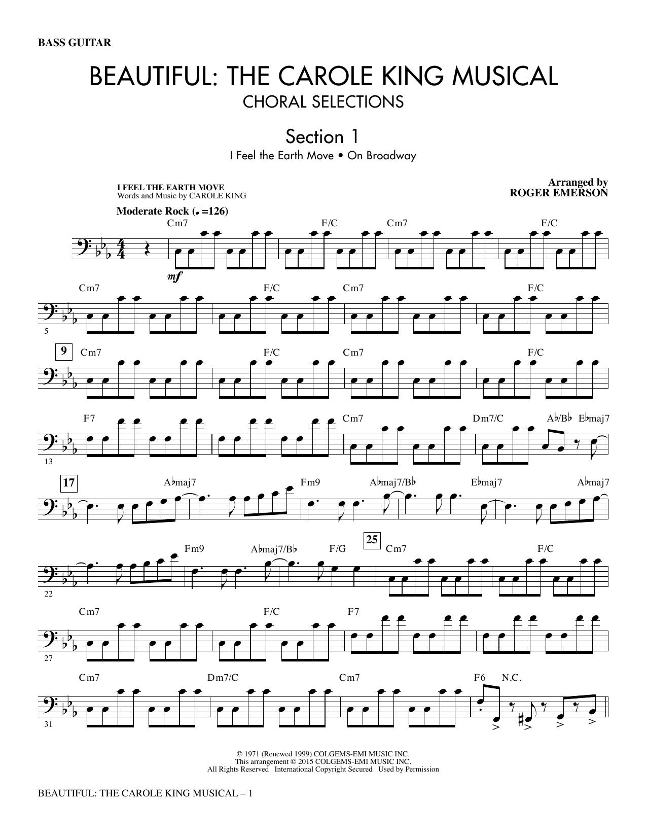 Beautiful: The Carole King Musical (Choral Selections) - Bass sheet music