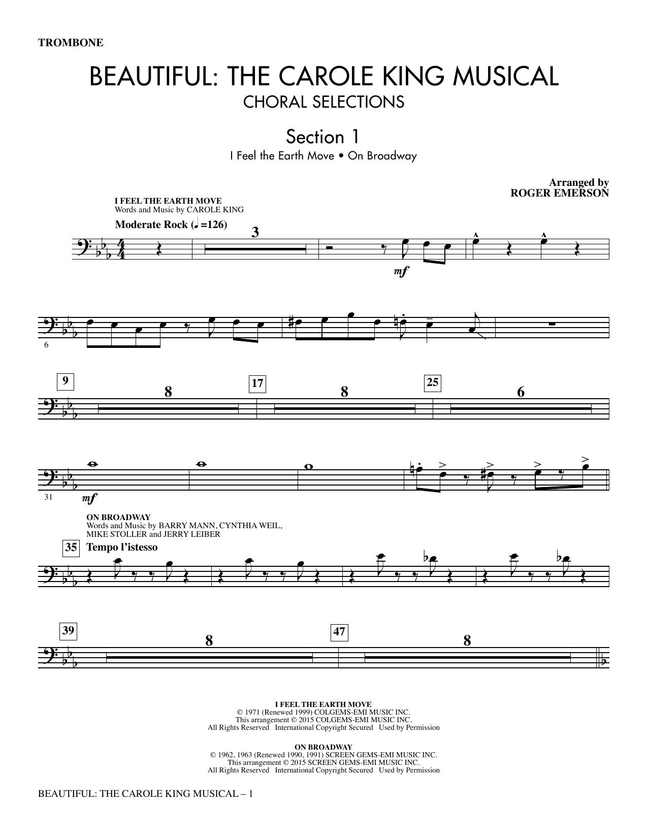 Beautiful: The Carole King Musical (Choral Selections) - Trombone sheet music